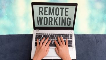 Conceptual hand writing showing Remote Working. Concept meaning situation in which an employee works mainly from home