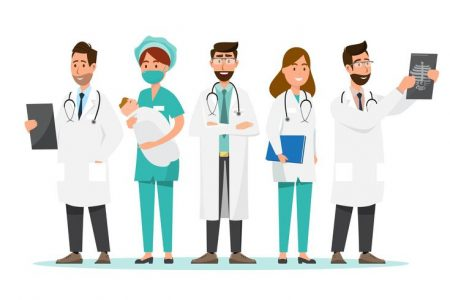 vector-set-of-doctor-cartoon-characters-medical-staff-team-concept